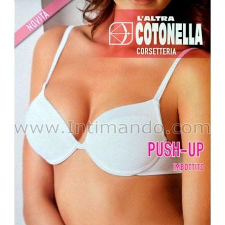 Reggiseno push-up Cotonella raso