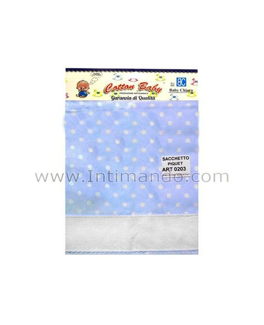 sacco nascita COTTON BABY art.0203 pois