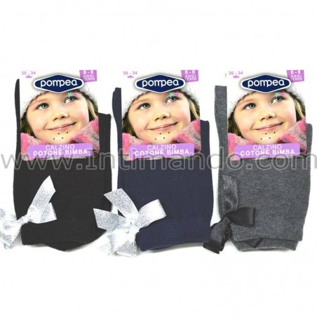 calzini bambina caldo cotone pompea