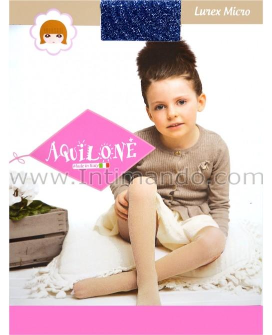 collant bambina AQUILONE Micro Lurex