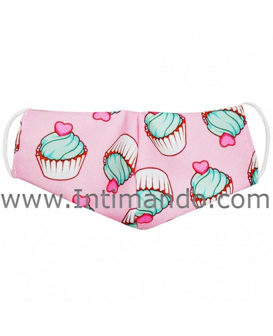 Mascherina bimba cupcake