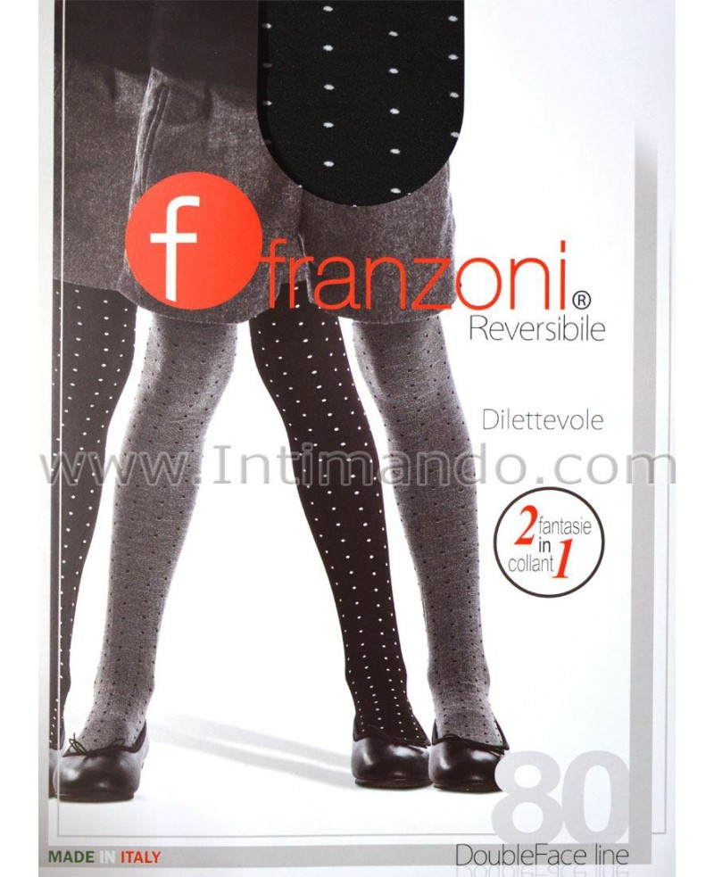 2dfad8f677e Franzoni Reversible tights for girls. Doubleface.